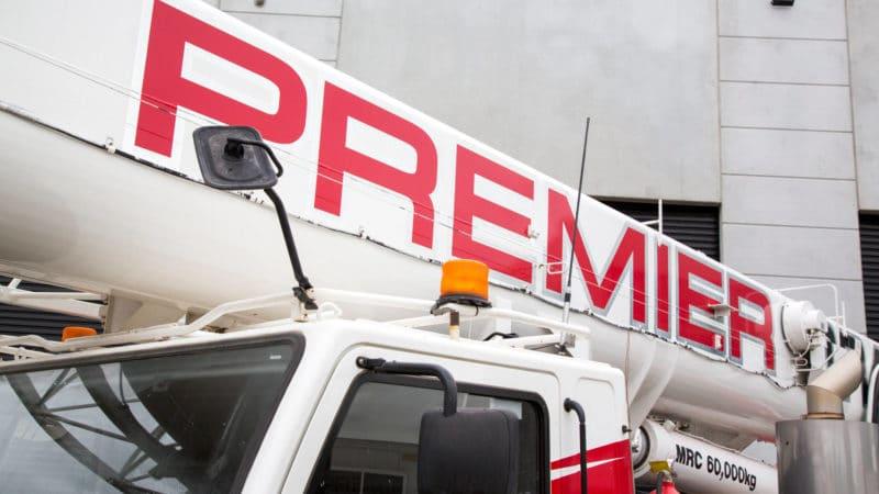 Premier Cranes & Rigging boom close up