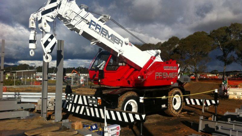 mobile crane onsite