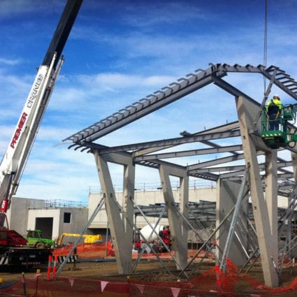 Premier Cranes steel erection