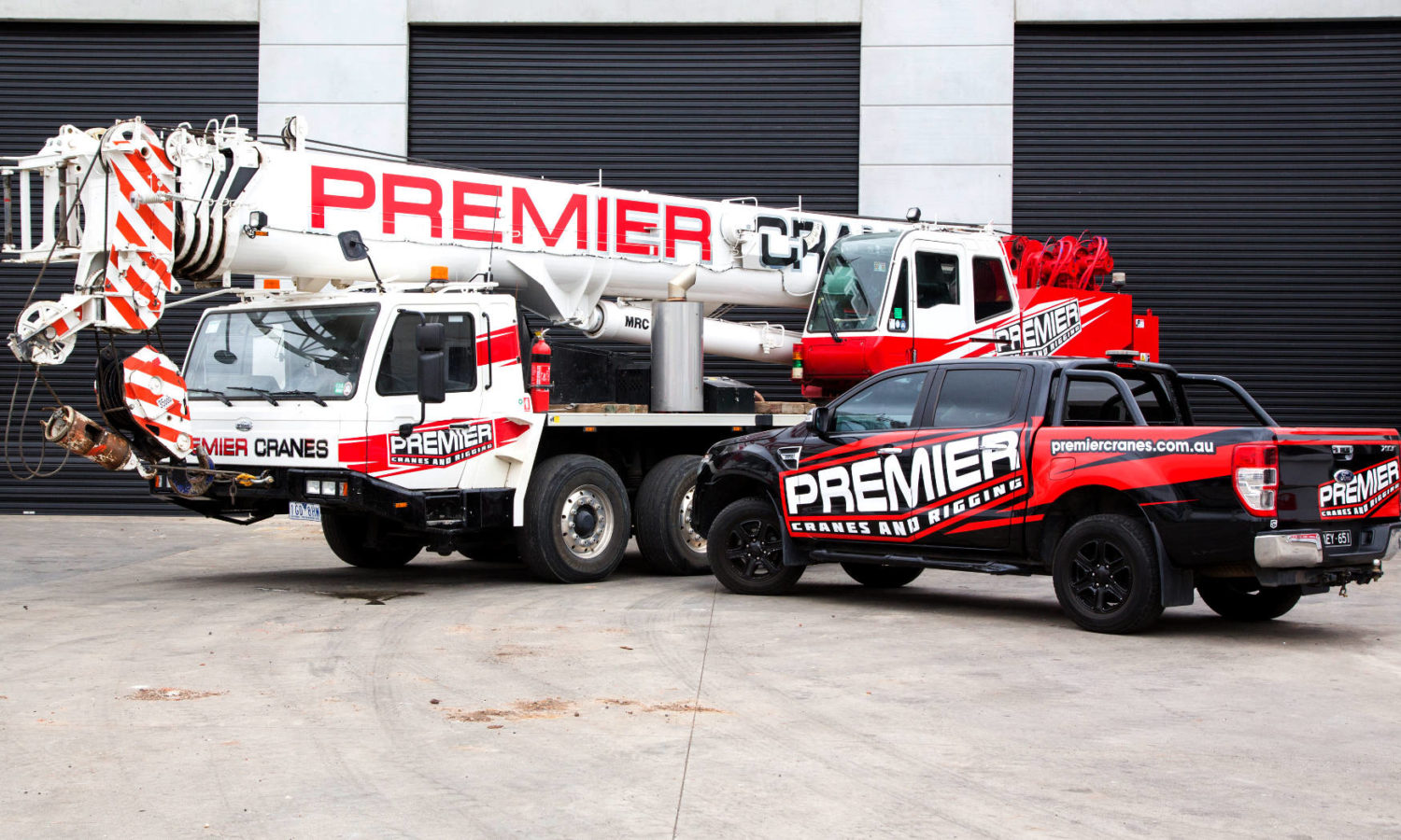 Premier Cranes vehicles