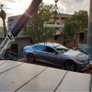 Premier Cranes & Rigging Lexus car lift