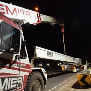 25ton Franna Crane used in the Western Roads Upgrade