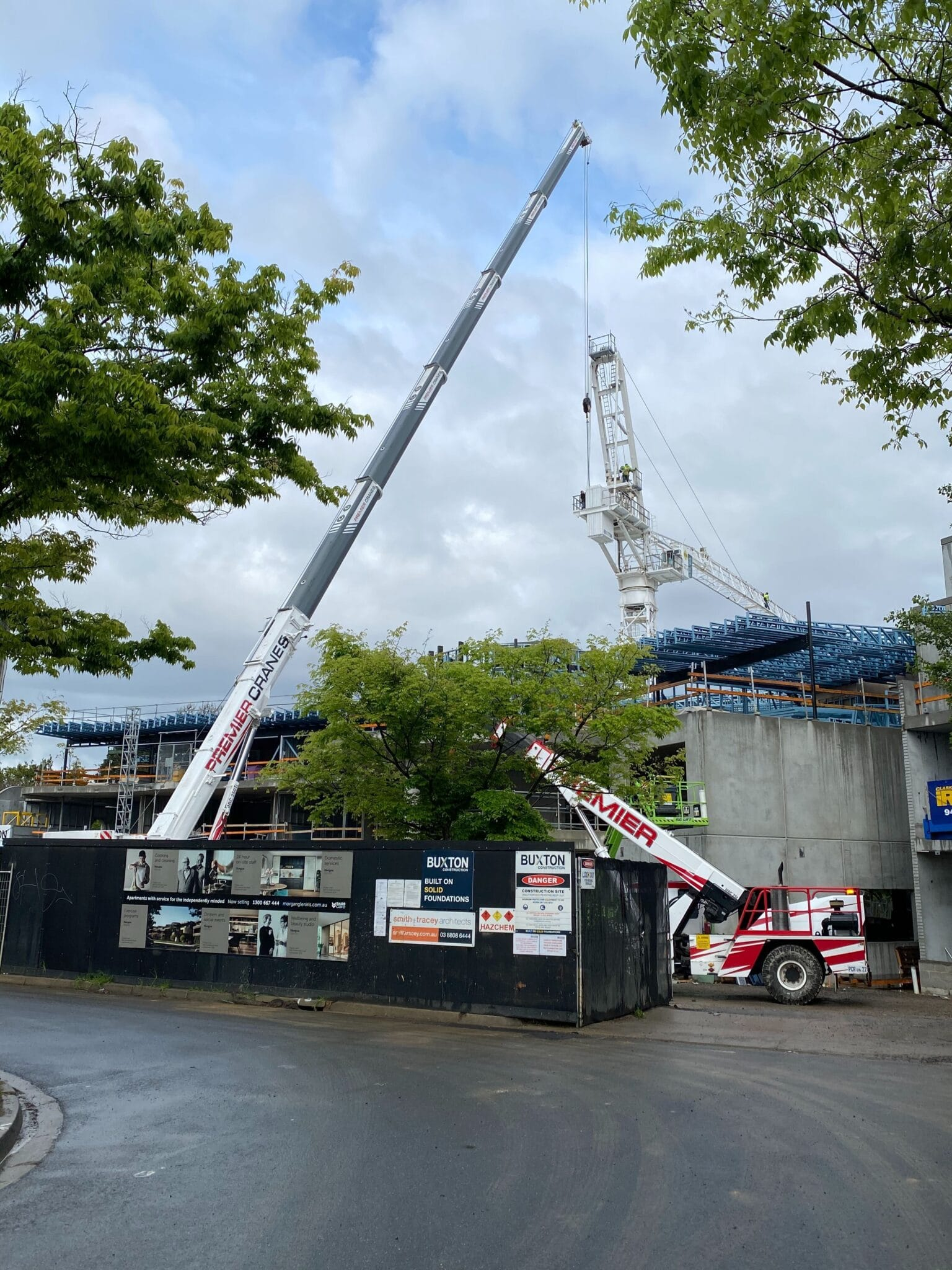 Buxton Site Tower Crane install